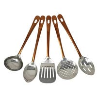 Copper Stainless Steel Utensils Kitchen Cooking(5-Pc Professional Set)