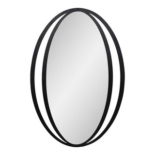 Aurelle Home Black Iron Contemporary Mirror