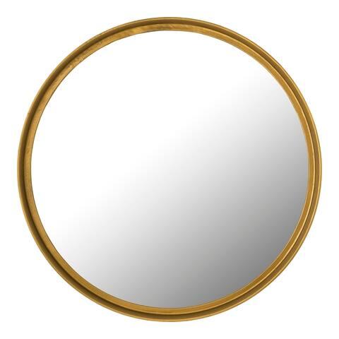Aurelle Home Antique Brass Large Metal Contemporary Mirror