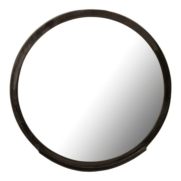 Aurelle Home Bronze Metal Frame Round Contemporary Mirror