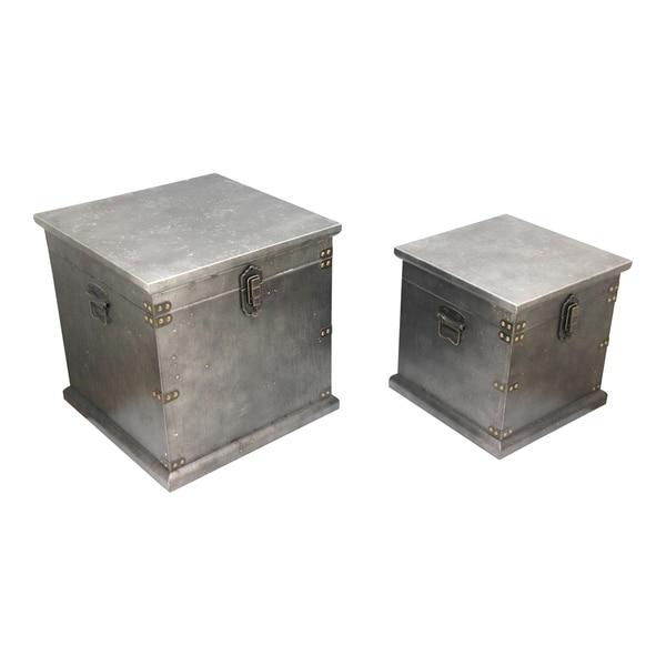 Aurelle Home Industrial Storage Boxes (Set of 2)