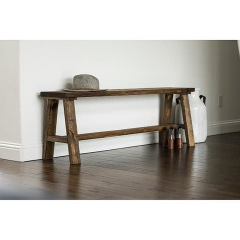 Handmade Classic Simple Sophistication Solid Wood Bench