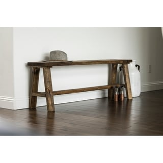 Link to Handmade Classic Simple Sophistication Solid Wood Bench Similar Items in Kitchen & Dining Room Chairs