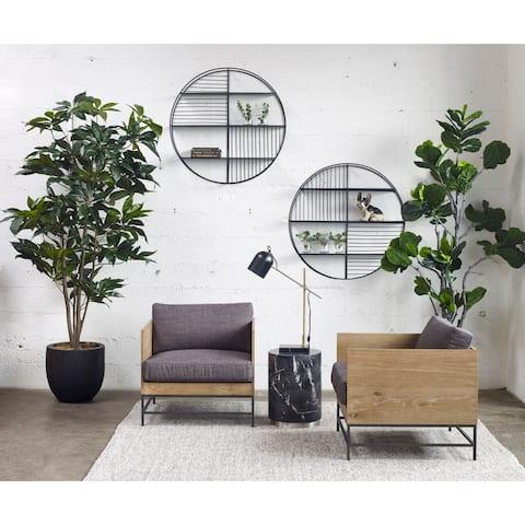 Aurelle Home Black Industrial Round Metal Wall Decor - 6 x 36 x 36