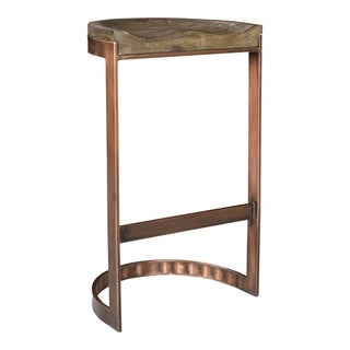 Aurelle Home Banto Industrial Modern Wood Counter Stool