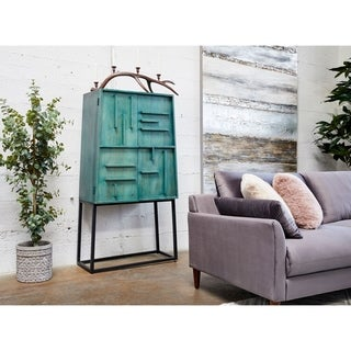 Aurelle Home Versaze Modern Wood Cabinet