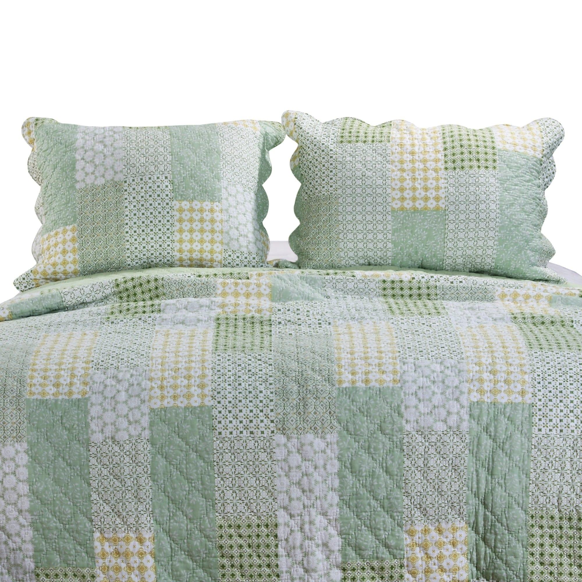 Porch Den Lebanon Sage Quilted Pillow Sham Set Set Of 2 Overstock 27211917