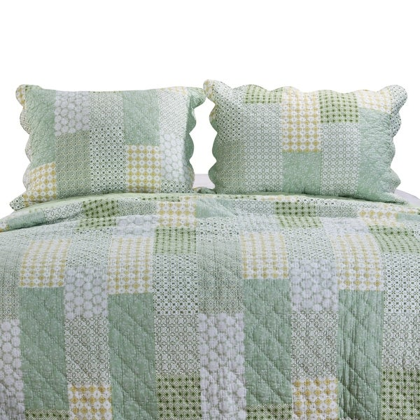 Porch & Den Lebanon Sage Quilted Pillow Sham Set (Set of 2)