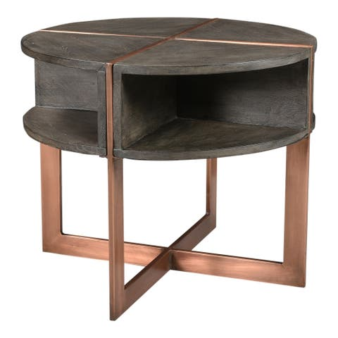 "Aurelle Home Banto Modern Mango Wood Side Table - 20"" x 24"" x 24"""
