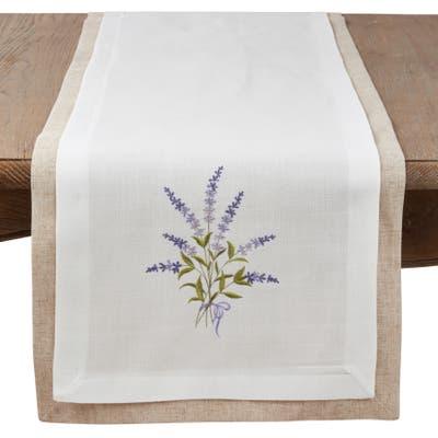 Lavender Design Double Layer Table Runner