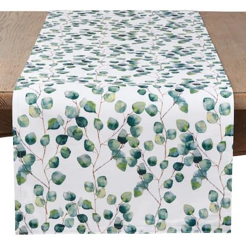 Saro Lifestyle Eucalyptus Leaf Long Table Runner