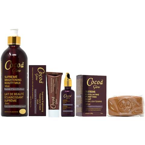 Cocoa Glow Soap, Lotion, Serum & Cream Set