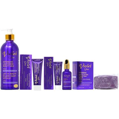 Violet Glow Soap, Lotion, Gel, Serum & Cream Set