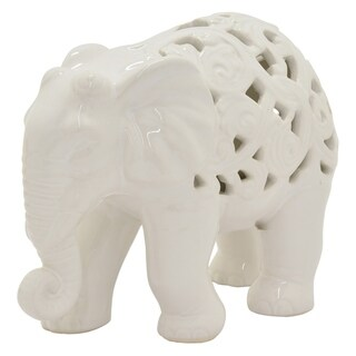 Three Hands Ceramic Pierced Elephant