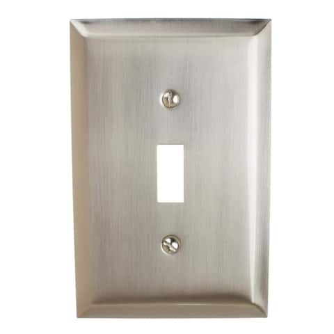 GlideRite 1-gang Toggle Wall Plate Cover Brushed Nickel (Pack of 3)