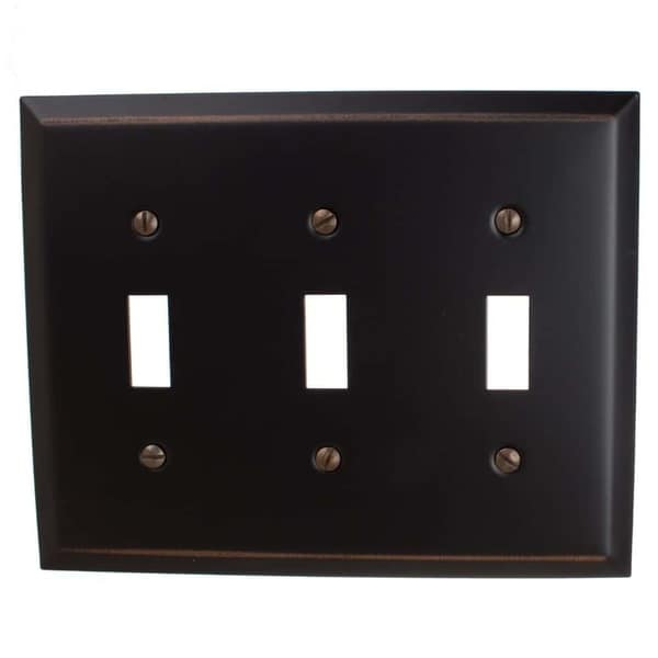 GlideRite 3-gang Toggle Wall Plate Cover Oil Rubbed Bronze (Pack of 3)