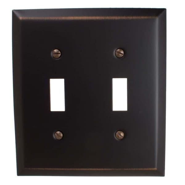 GlideRite 2-gang Toggle Wall Plate Cover Oil Rubbed Bronze (Pack of 3)