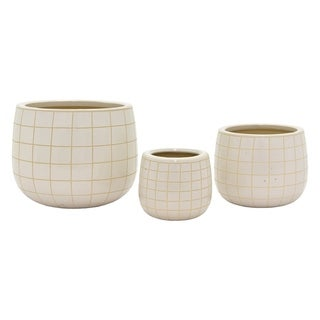 Three Hands Set Of Three Ceramic Planters
