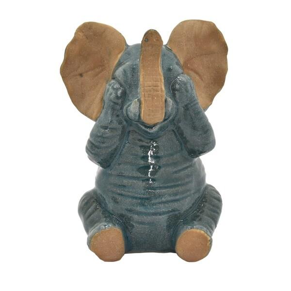 Three Hands Ceramic Elephant