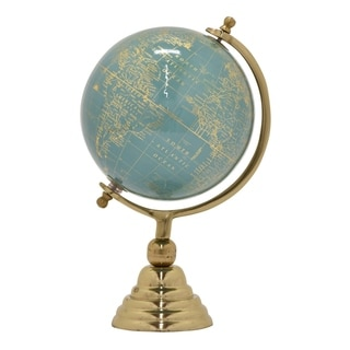 "Three Hands Globe 8"" - Nickel Gold Base"