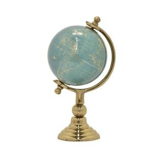 "Three Hands Globe 5"" - Nickel Gold Base"