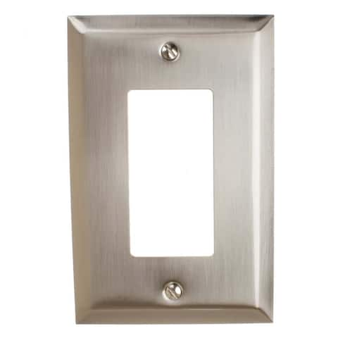 GlideRite 1-gang Rocker Wall Plate Cover Brushed Nickel (Pack of 3)
