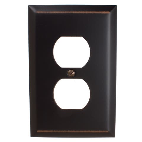 GlideRite 1-gang Outlet Wall Plate Cover Oil Rubbed Bronze (Pack of 3)