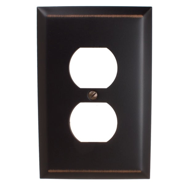GlideRite 1-gang Outlet Wall Plate Cover Oil Rubbed Bronze (Pack of 3). Opens flyout.