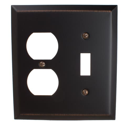 GlideRite 2-gang Toggle-Outlet Wall Plate Oil Rubbed Bronze(Pack of 3)