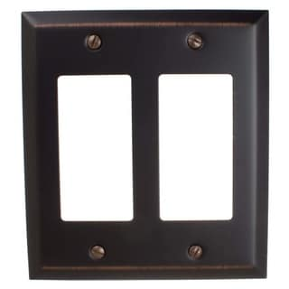 Link to GlideRite 2-gang Rocker Wall Plate Cover Oil Rubbed Bronze (Pack of 3) Similar Items in Lighting Components