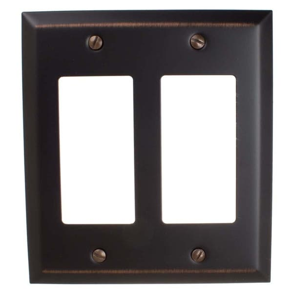 Gliderite 2 Gang Rocker Wall Plate Cover Oil Rubbed Bronze Pack Of 3 Overstock 27214029