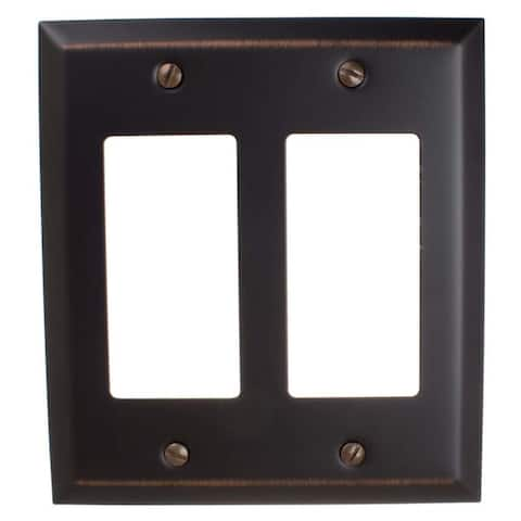 GlideRite 2-gang Rocker Wall Plate Cover Oil Rubbed Bronze (Pack of 3)