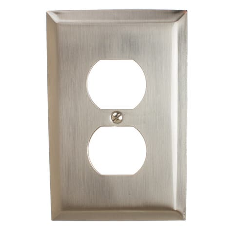 GlideRite 1-gang Outlet Wall Plate Cover Brushed Nickel (Pack of 3)