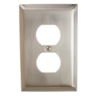 Link to GlideRite 1-gang Outlet Wall Plate Cover Brushed Nickel (Pack of 3) Similar Items in Lighting Components