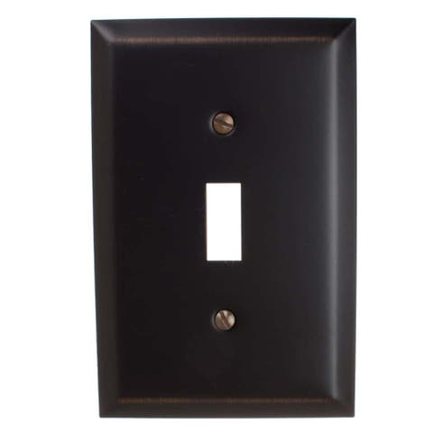 GlideRite 1-gang Toggle Wall Plate Cover Oil Rubbed Bronze (Pack of 3)