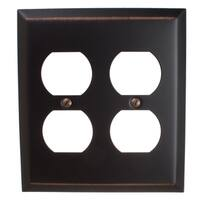 GlideRite 2-gang Outlet Wall Plate Cover Oil Rubbed Bronze (Pack of 3)