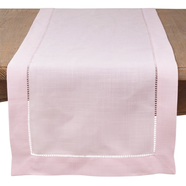 Saro Lifestyle Hemstitch Border Classic Table Runner. Opens flyout.