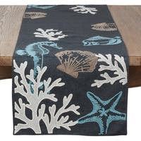 Saro Lifestyle Sea Life Print Table Runner