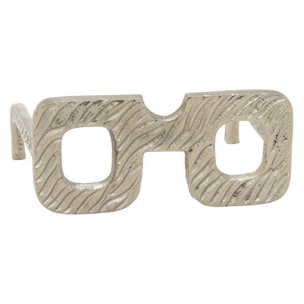 Three Hands Eye Glass Square Frame -Silver