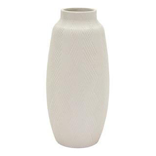 Three Hands Ceramic Vase - White