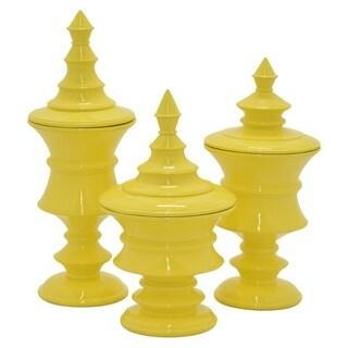Three Hands Decorative Jar and Urn Set of Three - N/A