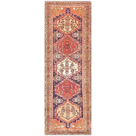 Vintage Hamadan Wool Rug - 3' x 9' Runner