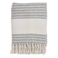 Cotton Throw With Diamond Weave Design