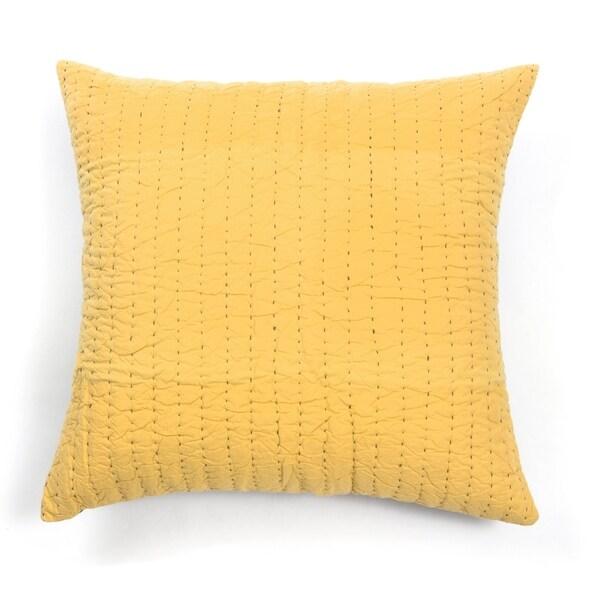 Cottage Home Tim Golden Yellow Cotton 26 inch Euro Sham
