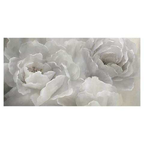 Soft White Peony Lace by Nan Wrapped Canvas Painting Art Print