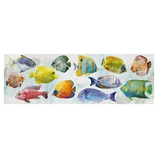 Tropical Fish Swim by Studio Arts Wrapped Canvas Art Print