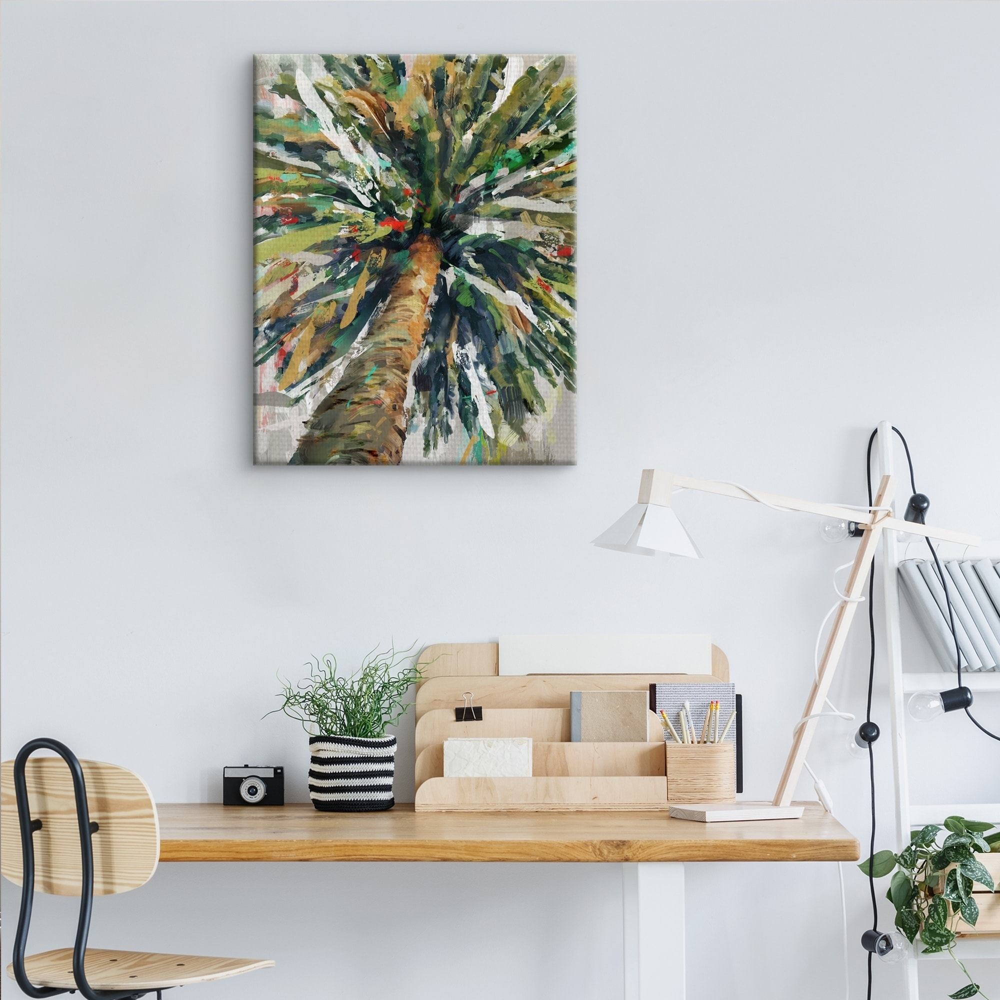 Shop Kaleidoscope Palm Tree Crop By Studio Arts Wrapped Canvas Art Print Overstock 27215871