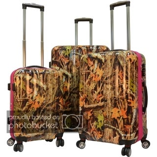 """Link to Karriage-Mate Polycarbonate 3-piece Hardside Spinner Luggage Set- Camouflage - 28"""" 24"""" 20"""" Similar Items in Luggage Sets"""