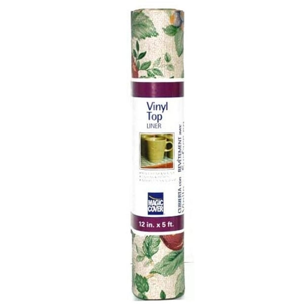 Magic Cover Non-Adhesive Vinyl Top Liner-Sonoma Counter Top, Drawer & Shelf Liner, 12''x5', Pack of 6