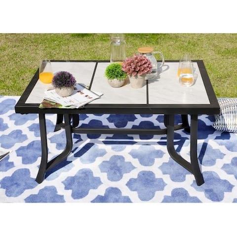 PATIO FESTIVAL Outdoor Tile-Top Coffee Table